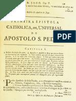 Novo Testamento Almeida 1693 - As Duas Epístolas Universais de Pedro