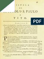 Novo Testamento Almeida 1693 - Epístola de Paulo a Tito
