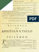 Novo Testamento Almeida 1693 - Epístola de Paulo a Filemon