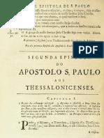 Novo Testamento Almeida 1693 - Segunda Epístola de Paulo Aos Tessalonicenses