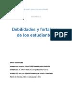 2.1.3. Debilidades y Fortalezas de Los Estudiantes.