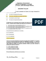 Segundo Taller I-2015 Economia III Respuesta