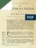 Novo Testamento Almeida 1693 - Epístola de Paulo Aos Efésios