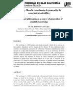 Articulo Ciencia y Filosofía UBC Arturo Lasso 11072019