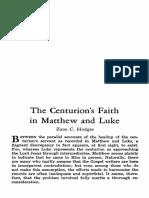 Zane C. Hodges - The Centurion's Faith in Matthew and Luke