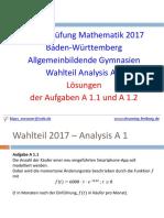 Abiturprüfung Mathematik 2017
