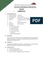 Plan Anual de Policia Escolar y Salud Ambiental.