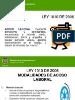 LEY 1010 DE 2006 MODALIDADES DE ACOSO LABORAL.ppt