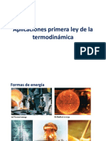 Aplicaciones Primera Ley de La Termodinámica