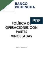 Política Operaciones Partes Vinculadas