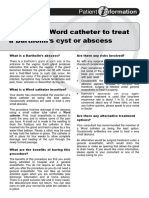 Inserting a Word Catheter to Treat a Bartholins Cyst or Abscess