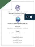 Requisitos Para El Ejercicio Profesional en La Construcción