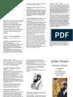 Gustav Klimt Brochure Oct 26 2012