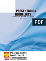 PIM Presentation Guidelines Sixth Edition