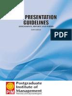 PIM Presentation Guidelines Sixth Edition