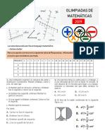 olimpiadas de matemáticas noveno- décimo