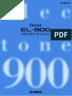 Yamaha Electone EL-900 Owner_s Manual