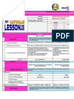 Sample daily lesson log