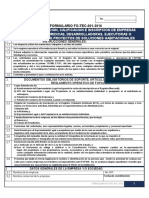 Formulario FO TEC 001 2016
