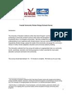 Coastal Community Climate Change Outreach Survey