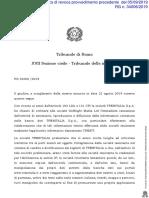 Tribunale di Roma, Ordinanza sul caso Trenit! vs Trenitalia