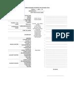 Form Biodata Peserta Pelatihan Tkhi