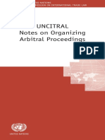 UNCITRAL Notes on Organizing Arbitral Proceedings