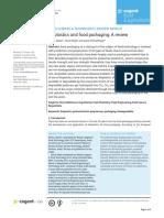 Bioplastics and food packaging
