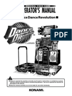 Dance Dance Revolution (Operators Manual) (Model GN845-UC)