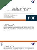 Prototipo de Línea Automatizada Para Proceso de Anodización