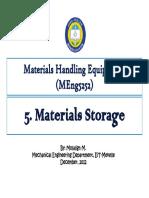 5 Materials Storage