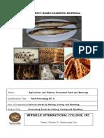 Food Processing NC II CBLM