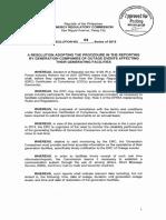 ERC Resolution No. 04, Series of 2015.
