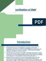 Securitization of debt