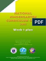 Kindergarten TG Week 1