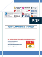 143257810 Toyota Strategy Marketing