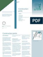 Concrete Soctety - Construction Joints