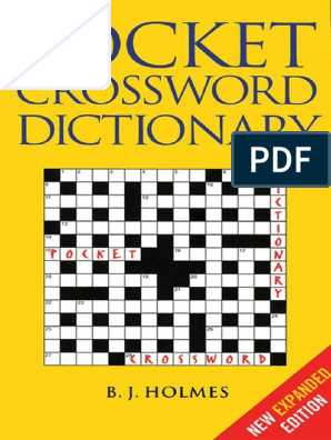 B J Holmes Pocket Crossword Dictionary Z Lib Org Pdf Crossword Linguistics