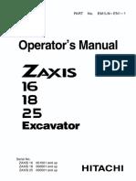 Руководство оператора ZX16-18-25