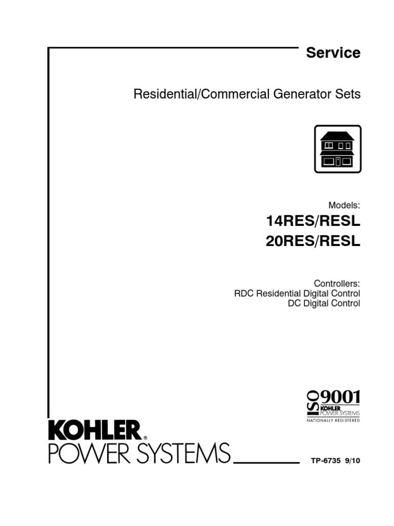 14_20res Kohler Home Generator | Electrostatic Discharge | Battery ...