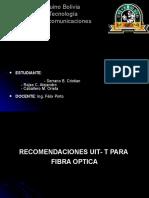 Recomendaciones UIT-T para Fibra Óptica.ppt