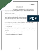 Training report on JAVA