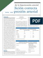 Definición de La Hipertensión Arterial y Medición Correcta