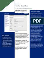 Insta Certifier Data Sheet 2015-09-04