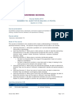 BUSADMIN 763 Quantitative Analysis (15 Points)