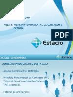 Estacio ANÁLISE COMBINATÓRIA (CEL0535) GRAD Aula_01(1)