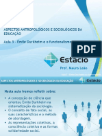 Estácio UNESA Cel0466 Aspectos Antropológicos e Sociológicos Da Educação  Aula_03(1)