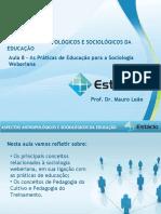 Estácio UNESA Cel0466 Aspectos Antropológicos e Sociológicos Da Educação  Aula_08(1)