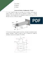 Lista de Exercícios de Flexão, Cisalhamento e Torção.doc