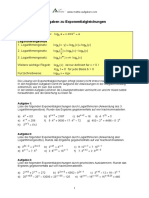 Aufgaben Und Loesungen Zu Exponentialgleichungen